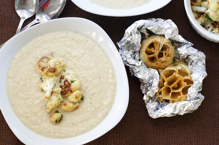 Cauliflower and Roasted Garlic Soup - substitute 2 cups heavy cream ...