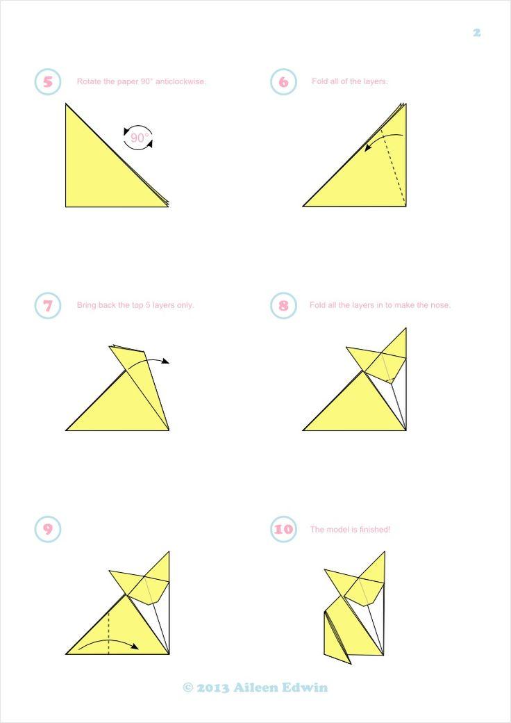pdf origami fox for kids