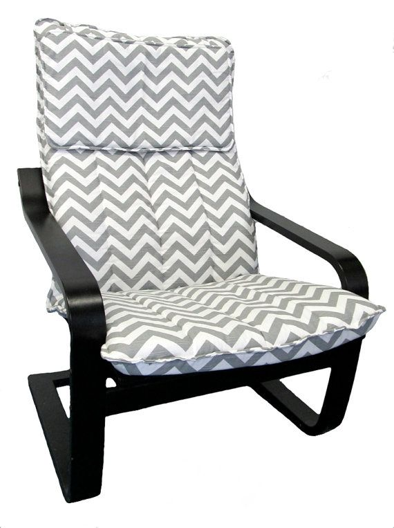 Godmorgon Ikea Installation ~ Slipcover for IKEA Poang Chair in Black & White by FreshKnesting, $101