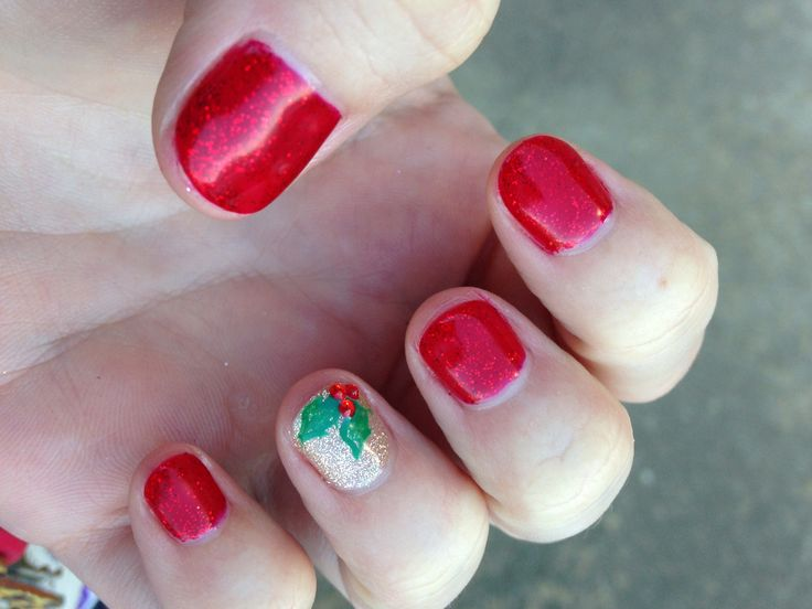 Christmas shellac nails | Even a Barn Looks Better Painted | Pinte