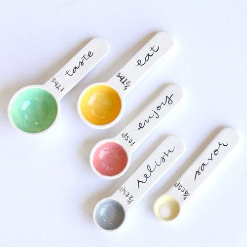 cute measuring spoons♡   Baking   Pinterest