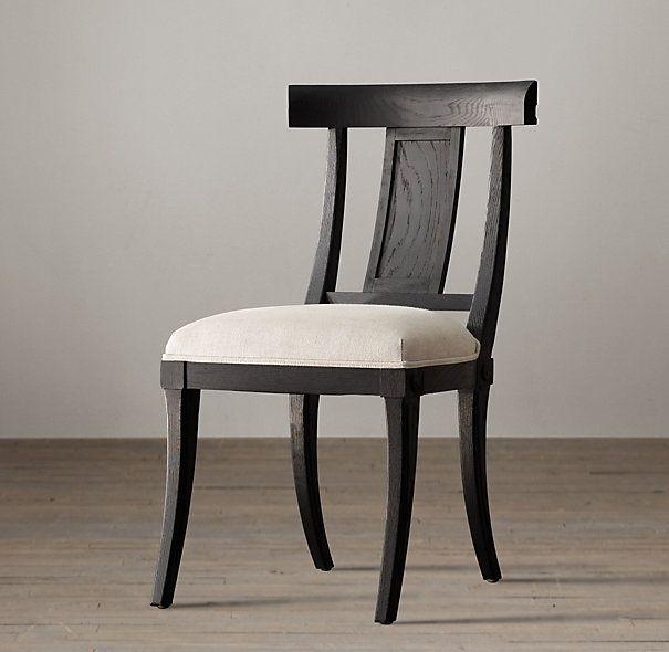 Klismos wood chair central park period pinterest