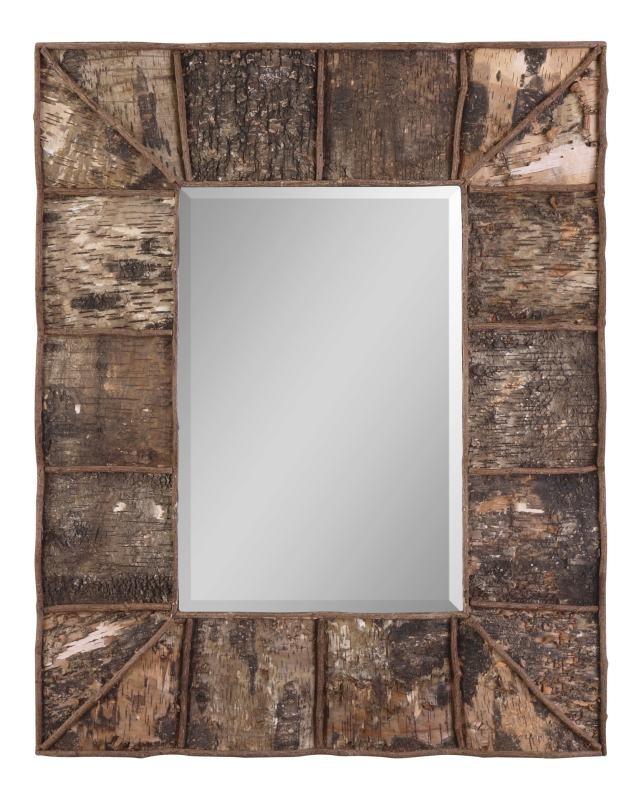 Rustic wooden framed mirror wooden craft ideas pinterest for Wooden mirror frames for crafts