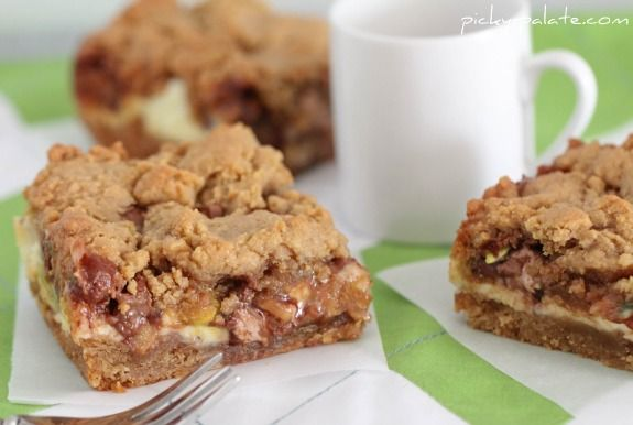 """peanut butter cookie and cream cheese """"candy"""" bars. I think they co..."""