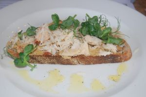 Crab on sourdough toast | Eat it | Pinterest