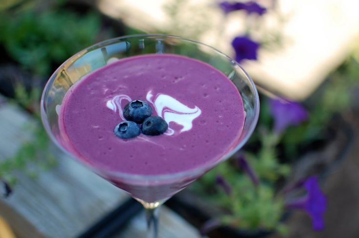 chilled blueberry soup :) | all things FRUITY! | Pinterest