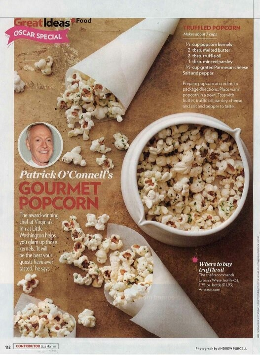 truffle popcorn | Food - Healthy snacks | Pinterest