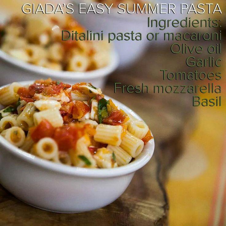 Giada's easy summer pasta   Recipes-dinners & sides   Pinterest