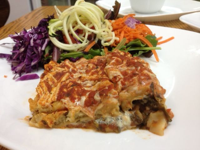 Christina's Heavenly Vegan Lasagna with a side spiral salad! Look at ...