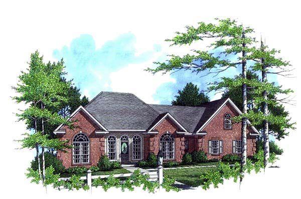 European Ranch Traditional House Plan 59026