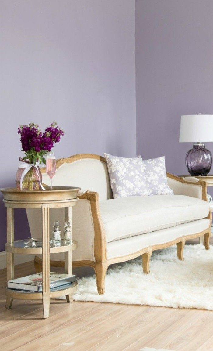 Wandfarbe wohnzimmer rotes sofa