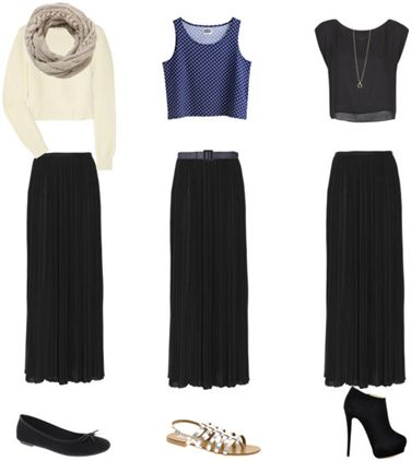 what to wear with maxi skirts in fall and winter