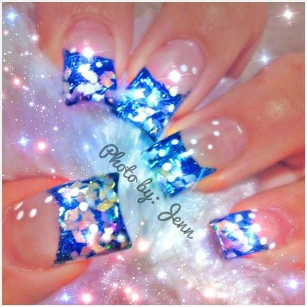 Confetti nail art | Nails!! | Pinterest