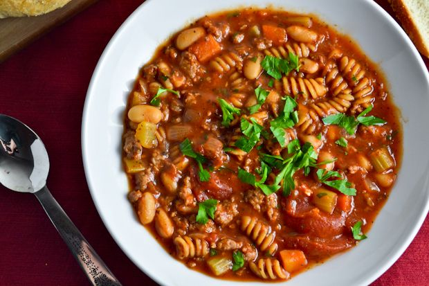 Slow Cooker Italian Chili from Amy Bites. Would eliminate salt and ...