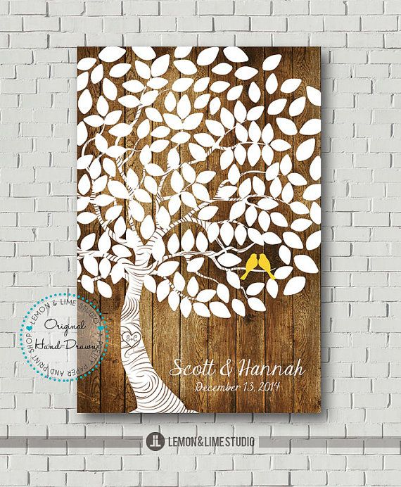 Wedding Gift List Alternatives : Unique Wedding Guest BookBridal Gift Alternative Guestbook Wedding ...