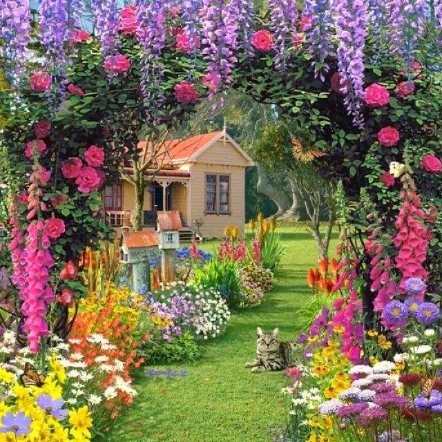 Fairy tale garden garden delights pinterest for Landscape my garden