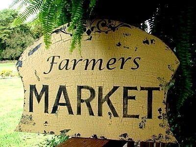 Vintage Farmers Market Sign Cottage Signs Vintage ...