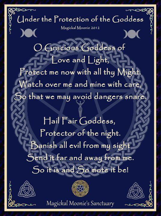 Goddess prayer for protection