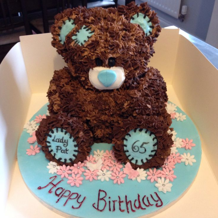 3d bear cakes