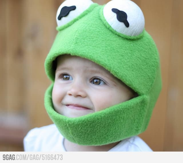 Free Crochet Pattern For Kermit The Frog Hat : Kermit Hat silly stuff Pinterest