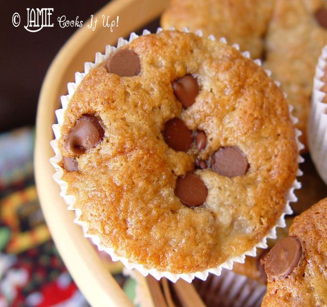 Banana Chocolate Chip Muffins- used sour cream instead of mayo and 3 ...