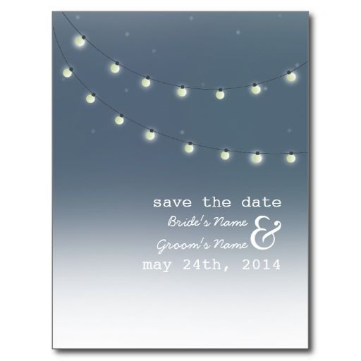 String of Lights Outdoor Evening Save The Date