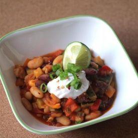 Bye-Bye Summer Vegetable and Bean Chili {vegan, gf}