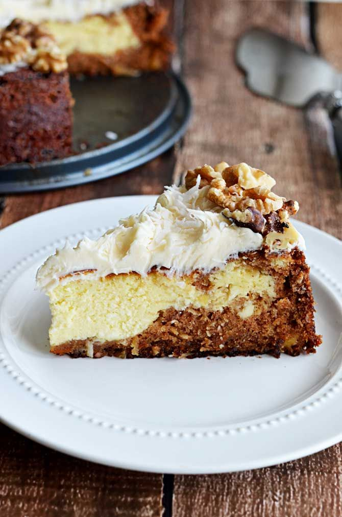 Carrot Cake Cheesecake. Put two of my favorite desserts together and ...