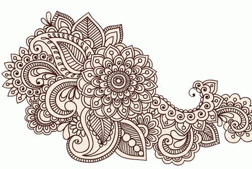 Mehndi Flower Patterns : Flower henna tattoo designs tattoos pinterest