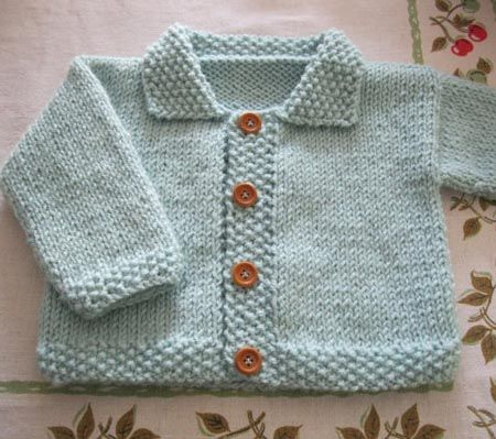 Newborn Baby Knitting Patterns : BEGINNER KNITTING PATTERN FOR BABY SWEATER   KNITTING PATTERN