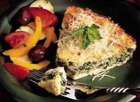 Impossibly Easy Spinach Parmesan Pie   RECIPES   Pinterest
