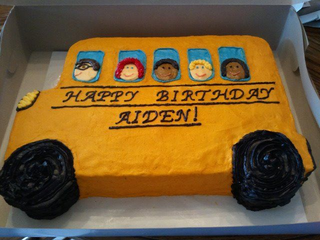 School bus cake.  Made it for a child's birthday party.