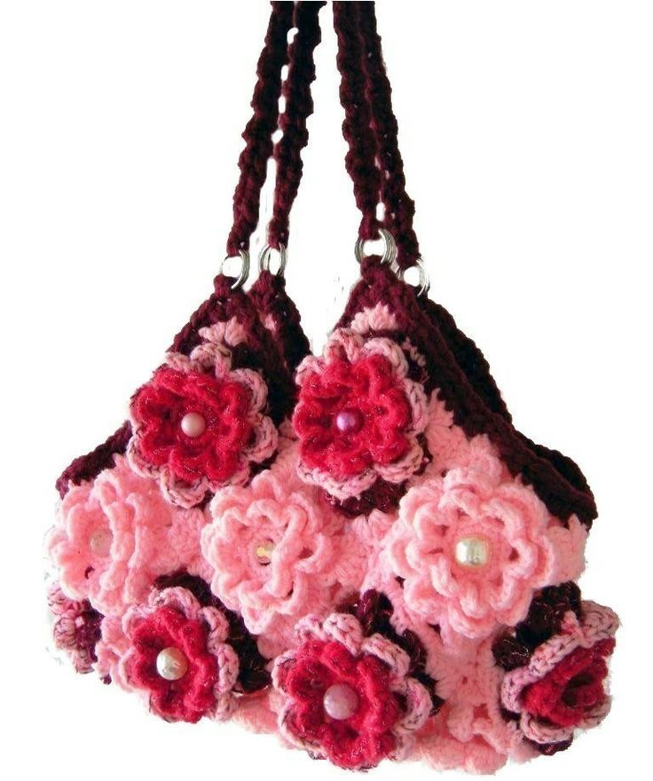 Crochet Designer Bag Pattern : Crochet Handbag Patterns design Crochet handbag Pinterest