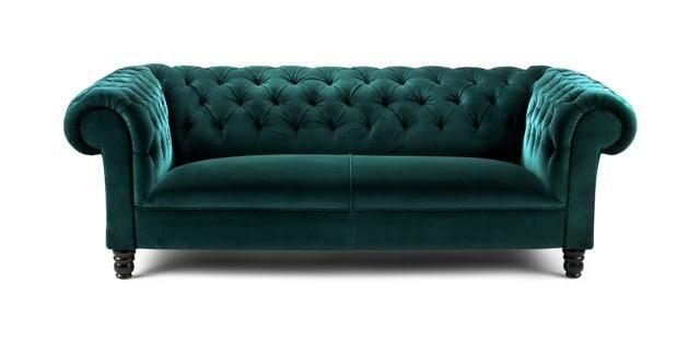 Teal velvet sofa... : furnish // fixture : Pinterest