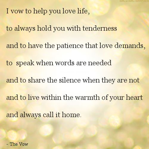 Cute Love Quotes From The Vow Letters