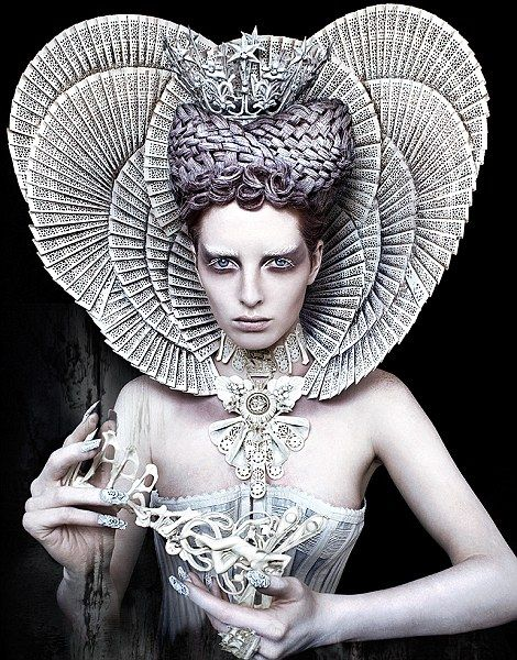 By Kirsty Mitchell - The White Queen: ruling over the forest of Wonderland