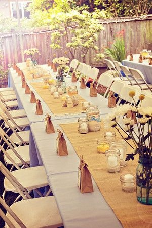 Burlap Wedding Table Decorations