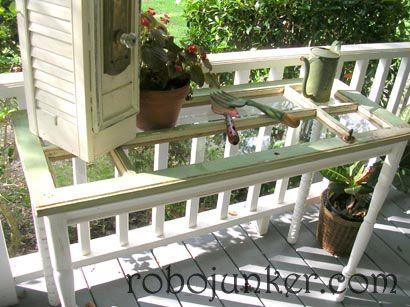 Window pane table