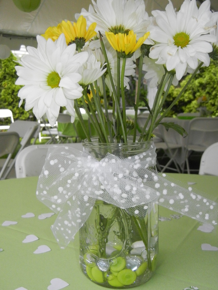 mason jar centerpieces for my eparty baby shower pinterest