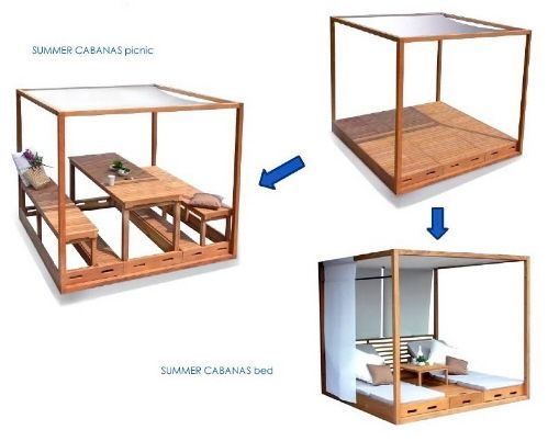 Cabana Design Patio Furniture Garden House Pinterest