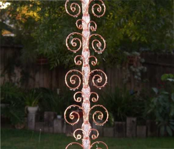 ... , Charming Rain Chains and Creative Rain Ropes - copper rain chain