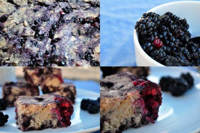 Paleo Blackberry Bars [made with wild blackberries. gluten free, dairy ...
