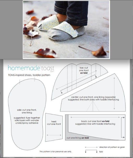 TOMS pattern toddlers | ~Sewing Soft Shoes For Babies~ | Pinterest