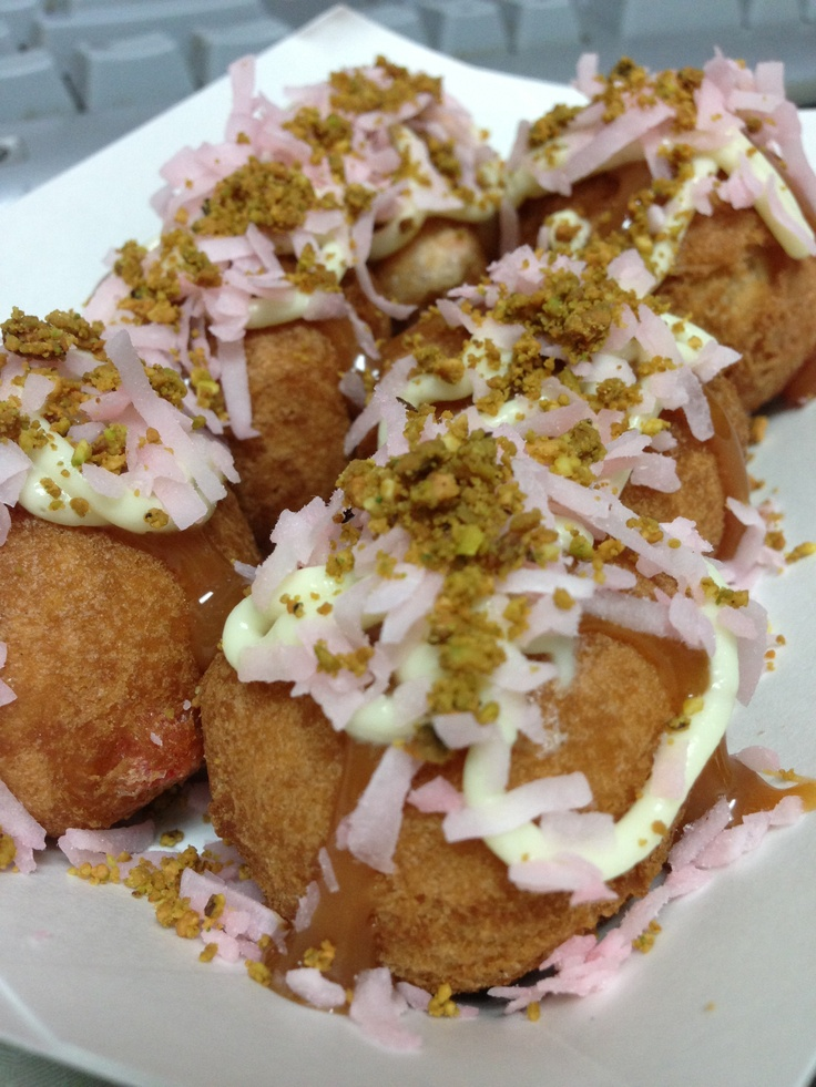 coconut lemongrass Bavarian cream. Dusted with toasted pistachio, and ...