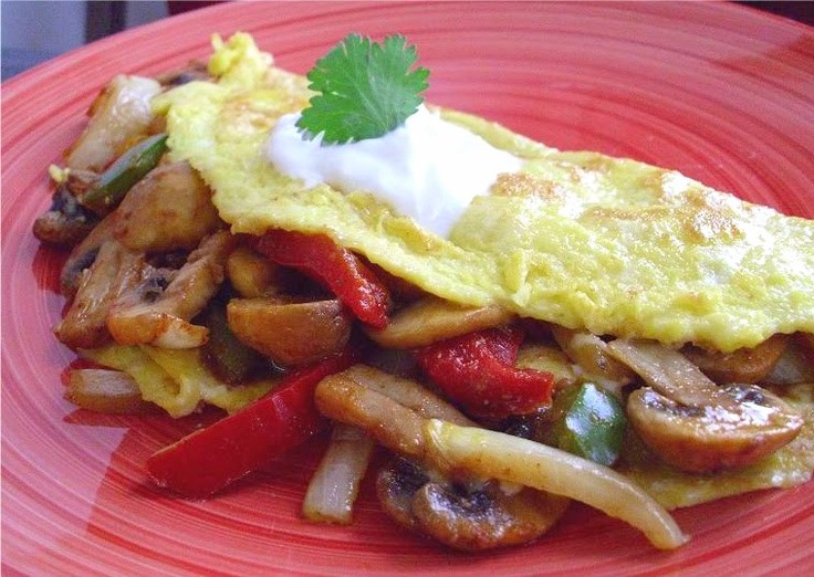 Mushroom Fajita Omelette | Whole wheat and health food | Pinterest