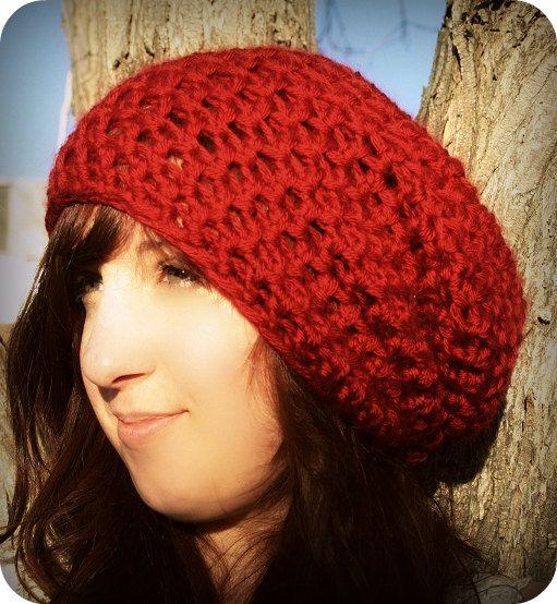 Crochet Hat Pattern Beret : Easy Super Slouch Hat Crochet PDF pattern, Beret crochet ...