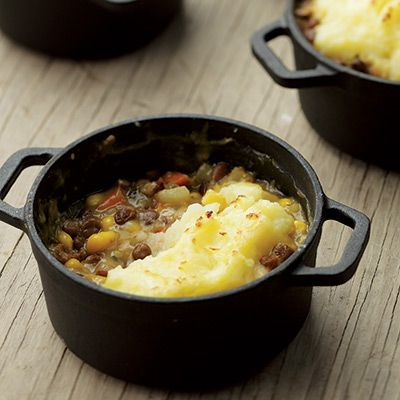 Vegetarian Shepherd's Pies Recipe (EatingWell.com via Delish.com)