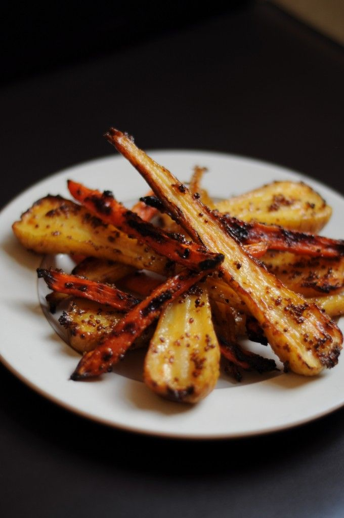 Candied Honey Mustard Parsnips and Carrots