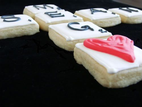 Scrabble Cookies--so cute for board game nights!