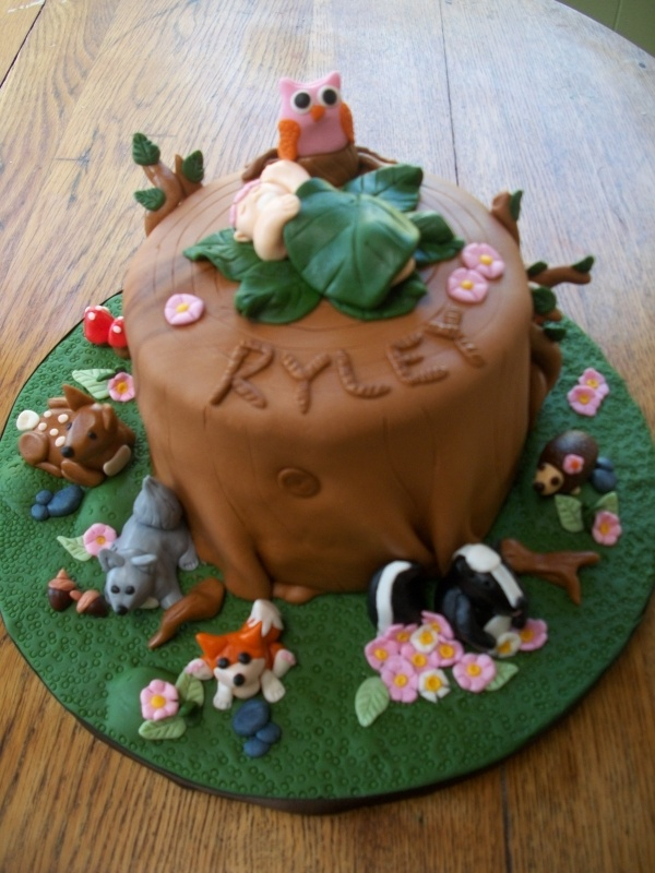 pin woodland animal baby shower cake its so cute party ideas cake on